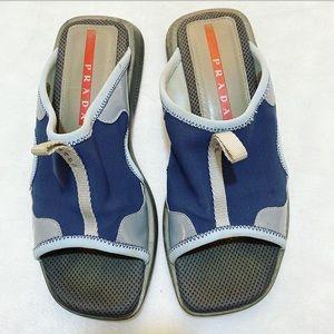Prada Sport Calz Donna Pelle-Tessuto Water Sandals